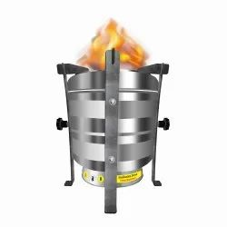 BIOFLAME Stainless Steel Smokeless Wood Stove (Family Cook Stove), Model Name/Number: Bfexl