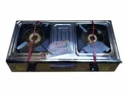 2 Aluminum Commander Sheet LPG Gas Stove, For Kitchen, Size: 19 X 38 Inch