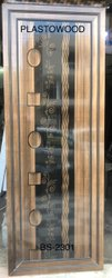 Polished Plasto Wood Printed PVC Door, For Home, Interior
