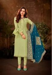 Pure Silk Embroidery Suit Material -8 Pcs Catalog Set