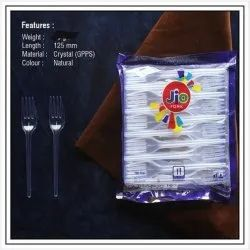 150 Piece White Disposable Plastic Fork, For Event and Party Supplies