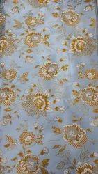 Fancy Jacquard Fabric, Traditional, Grey