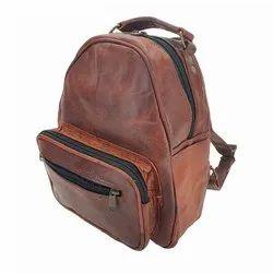 Handmade Unisex Leather Backpack Bag, Size: 16