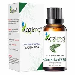 Liquid Kazima Curry Leaf Essential Natural & Undiluted Oil, For Cosmetic, 10-1000 Ml