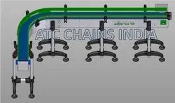 Food Process Modular Belt  90 Degree Conveyor Manufacturer