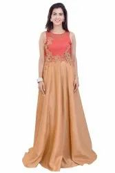 Embroidery Gown With Stylish Look