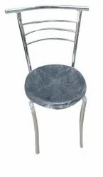 Black Polished Mild Steel Chair, For Outdoor