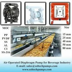 Air Operated Diaphragm Pump for Beverage Industry