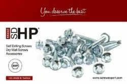 Mild Steel Galvanized SD HP Brand Self Drilling Screws, For Roofing