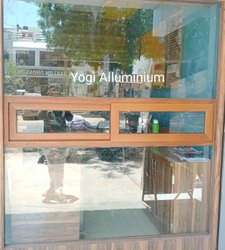 Yogi Aluminium Modern 12mm tempred glass with Aluminum Wodan Window, For Office, Size/Dimension: 7x5 Feet