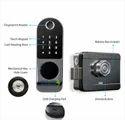 Main Door Knob Digital Biometric Rim Lock, Black