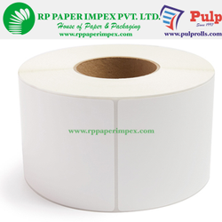 PULP Direct Thermal Labels 50 x 25 mm (2 x 1 inch), 2 Up Chromo DT50x25x2