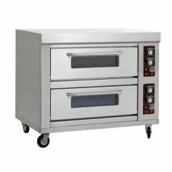 Electric Double Deck 4 Tray Deck Oven