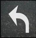 Thermoplastic White Arrow Marking