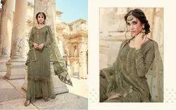 A-Line Stitched Designer Silk Suits