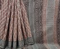 Natural Bagru Handblock Printed Cotton Saree.
