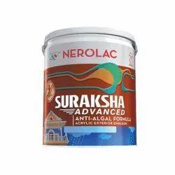 Nerolac Suraksha Advanced Acrylic Exterior Emulsion Paint, Packaging Size: 10 Litre