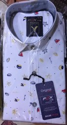 Fox.com Pure Cotton Mens Formal Shirts, Machine wash
