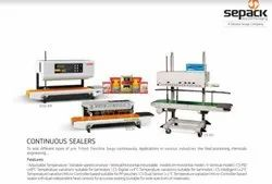 Semi-Automatic Ss Continuous Band Sealer - Sepack SCS3H, Capacity: 500-1000 pouch per hour, Horizontal