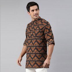 Janasya Men's Brown Cotton Kurta ( Men5028)