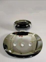 Stainless Steel Silver Jabra Globe Soap Dish