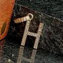 Diamond Initial H Pendant, 14k Gold Pendant, Diamond Alphabet PEMJ-1502