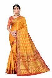 Ofline Selection 6.3 M (With Blouse Piece) Party Wear Banarasi Silk Saree