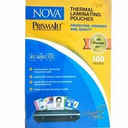 Nova Thermal Laminating Pouches, Packaging Type: Packet