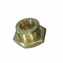 Hexagonal Broaching Brass Bush Nut, For Hardware Fitting, Size: 27 Mm