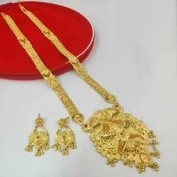 Good Quality Long Haar Necklace And Earrings Jewellery Set For Women And Girl Bijoux - 7