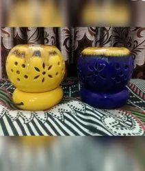 Yellow Blue Ceramic Electric Aroma Diffuser, Model Name/Number: ED002