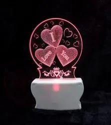 SHAYONA I Love You 3D Illusion LED 7 Color Light Acrylic Night Lamp