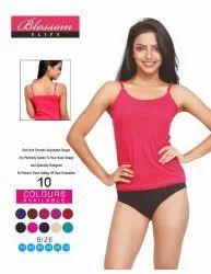 Sleeve Less Multicolor Blossom Slips Ladies Soft Cotton Night wear, 18-45