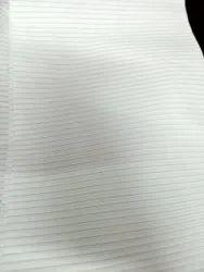 Polyester Plain Fabric, White