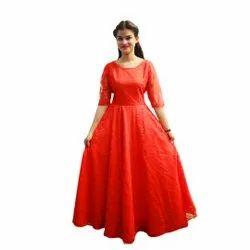Festive Wear Red Gown
