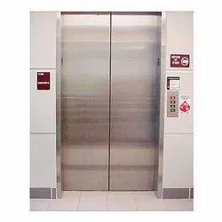 Silver Mild Steel Elevator Door, Telescopic