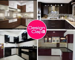 L Shaped Modular Kitchen Interior Designing Service