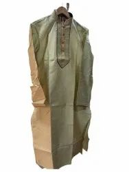 Veive Silk Mens Designer Kurta, Band Collar, Size/ Dimension: Large