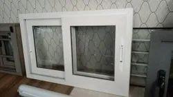 Modern White Aluminium Sliding Window, For Home,Office, Size/Dimension: 1.5 X 0.5 Feet