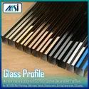 Stainless Steel Glass Fixing Profile, Gold, Rose Gold, Black, Silver, Champagne Antique Hairline etc