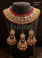 Fusion Arts Kundan Bridal Necklace Set