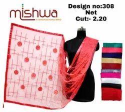 Designer Net Dupatta