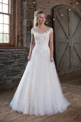 Ladies White Wedding Gown