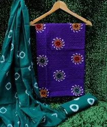 Batik With Embroider Cotton Dress Material For Casual Wear