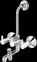 Plantex Flora Wall Mixer 3 In 1 With Arrangement For Overhead & Tel. Shower (wall Mounted)
