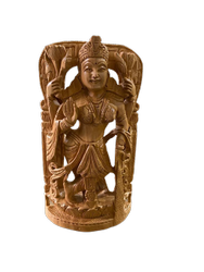 Laxmi Ji Wooden 8 Inch Murti  In Standing