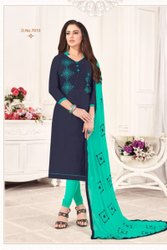 Jharna Silk Embroidery Work Salwar Suit-12 Pcs