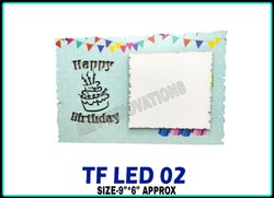 Multicolor Printed Sublimation Mdf Photo Frame- TF LED 02, For Gifting, Size: 9 X 6 Approx