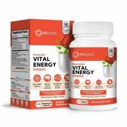 Ginseng Capsules - Elicura Vital Energy (60 Veg Capsules)