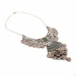 Artificial Oxidized Silver Necklace